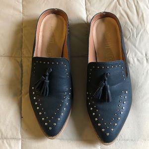 Mi.im black leather mules